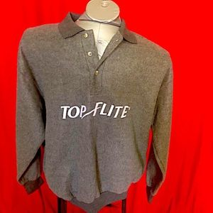 TOP FLITE by SPALDING pull over Fleece Sweater